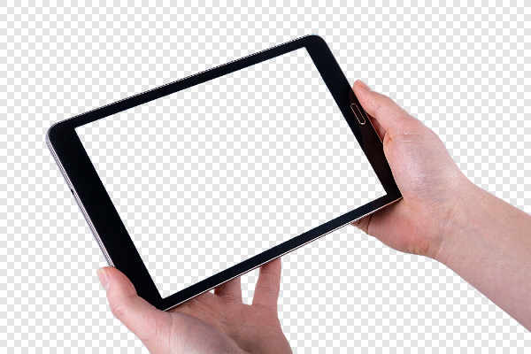 Tablet in women hands — preview