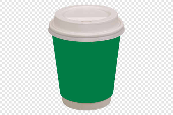 Green coffee drinking cup — preview