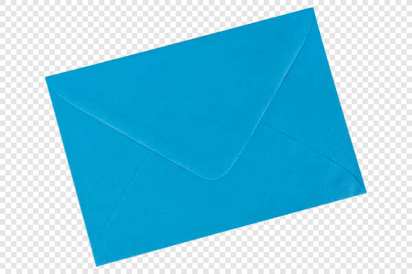 Blue envelope — preview