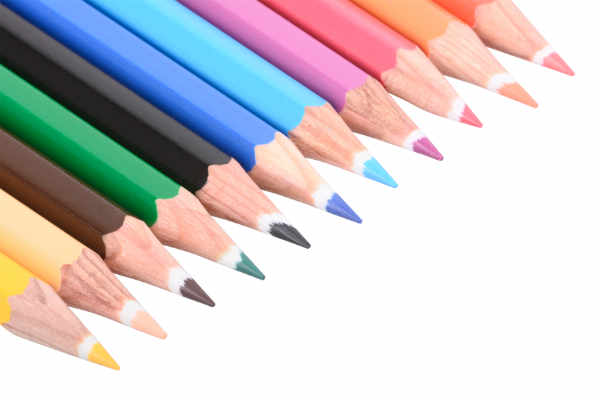 Colorful crayons — preview