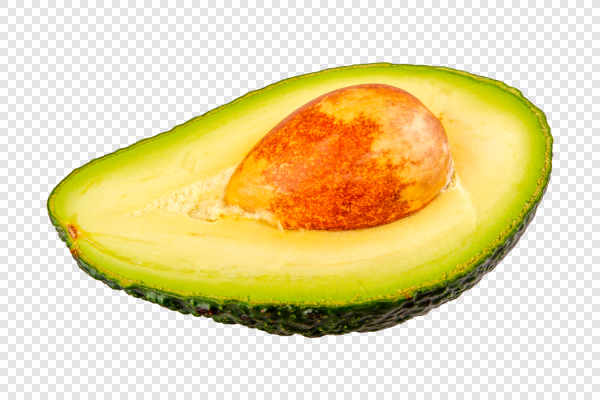 Half of cut avocado — preview