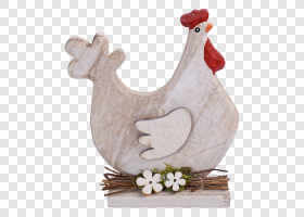Wooden easter hen — preview