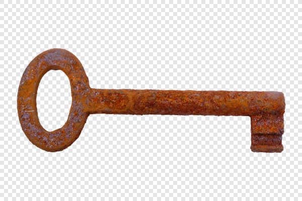 Old rusty key — preview