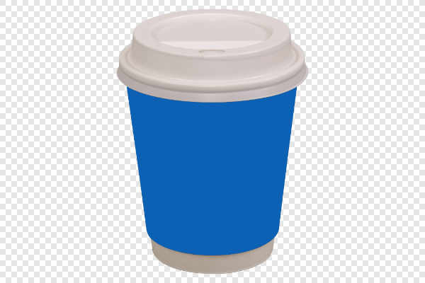 Blue coffee drinking cup — preview