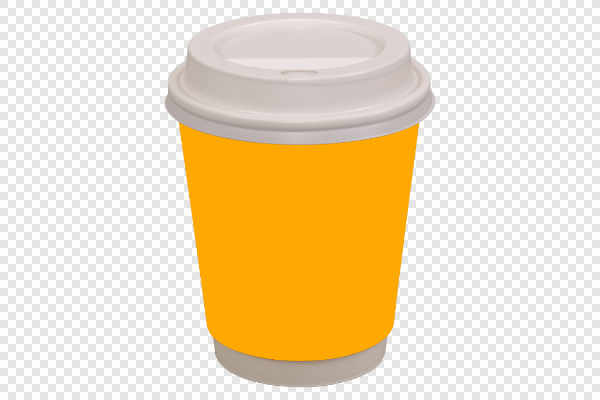 Orange coffee drinking cup — preview
