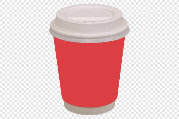 Red coffee drinking cup — preview