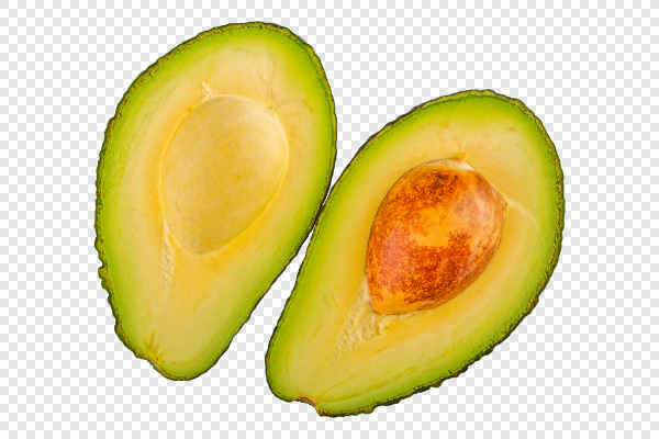 Two half of cut avocado — preview