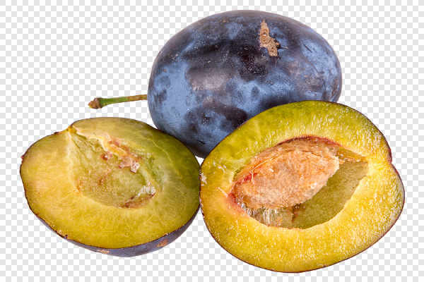 Group of blue plums — preview