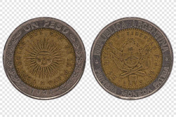 Un Peso Argentina coin... — preview
