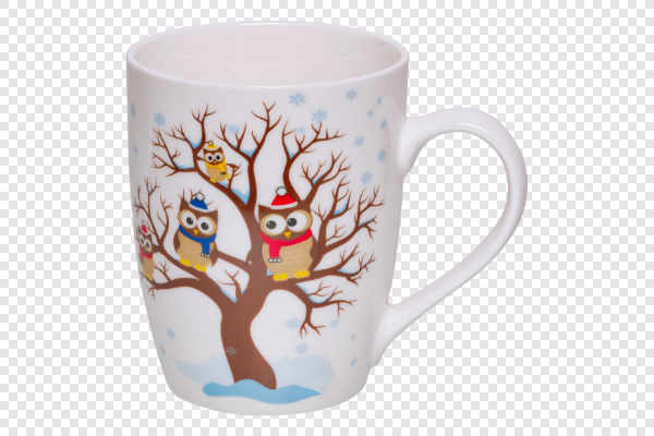 Mug with owls on the... — preview