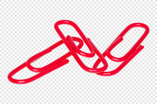 Red paper clips — preview