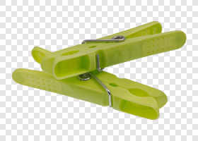 Green plastic pegs — preview