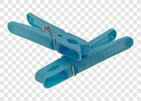 Blue plastic pegs — preview