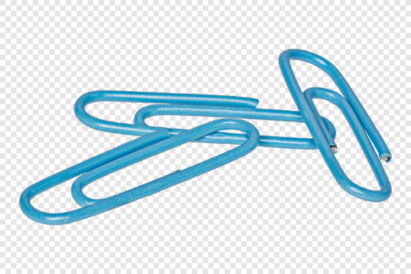 Blue paper clips — preview