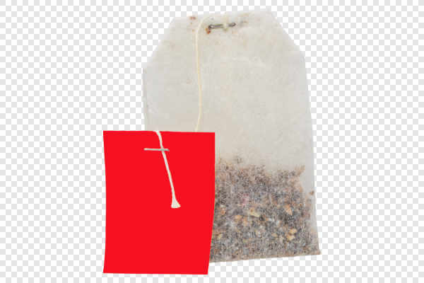 Teabag with red label... — preview