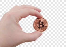 Bitcoin coin in a hand... — preview