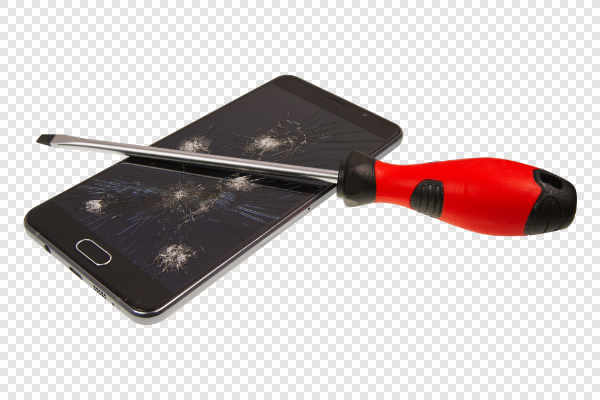 Smartphone with broken... — preview