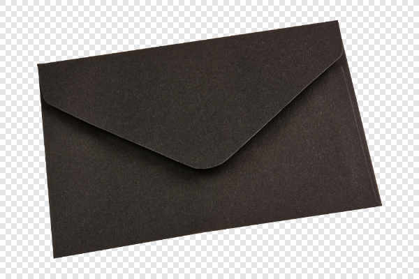 Black envelope — preview