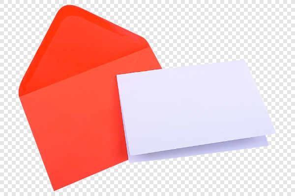 Red envelope with blank paper — preview