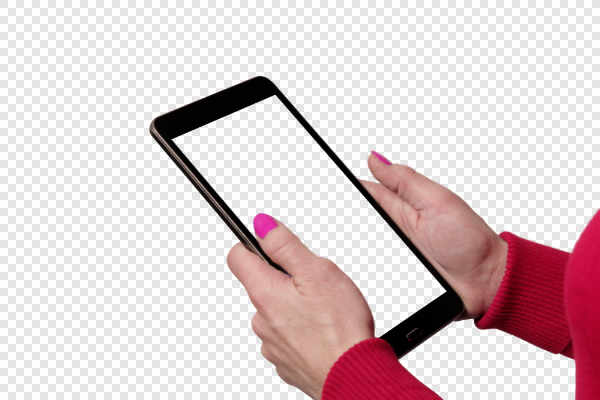 Tablet in women hands... — preview